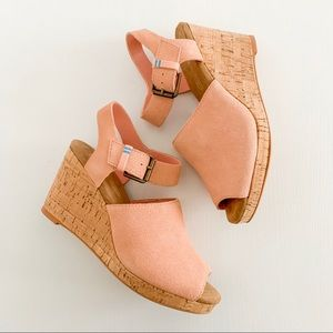 NEW Tom's Women's Tropez Wedges Pink